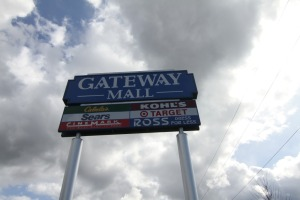 Gateway Mall sign on a day its doors were closed.