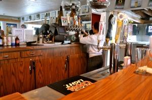 Miranda Rodriguez, working in the Tiny Tavern.