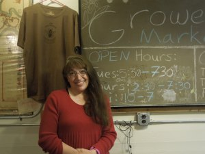 Laurie Rose Jones, a volunteer at Growers