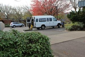 One of the three paratransit vans