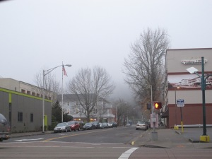 Gloomy day in downtown Eugene