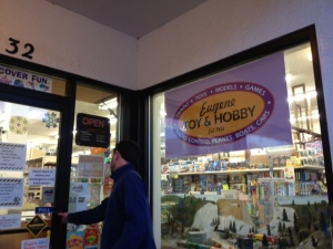 Andrew Agerter, who requested to not be photographed, is an employee at Toy and Hobby, a local Eugene toy store.