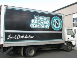 Ninkasi delivery truck.