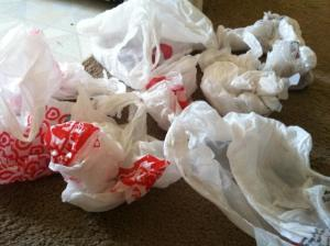 Plastic bags are recently being saved by shoppers since the ban.